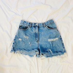 Vintage Ann Taylor blue jean cutoff shorts